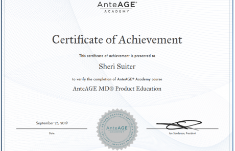 sheri-anteage-md-product-cert
